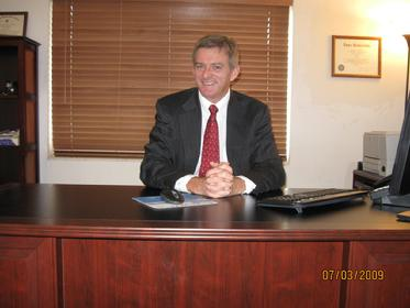 immigration lawyer David Kilpatrick in his law office.